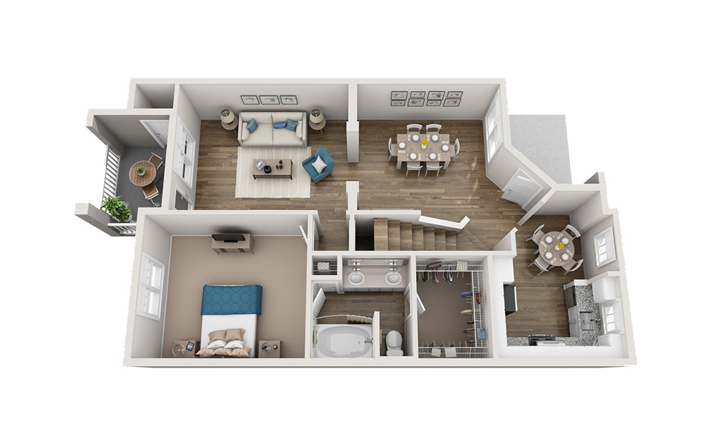 Biltmore - 3 bedroom floorplan layout with 2 baths and 1538 square feet. (Floor 1)